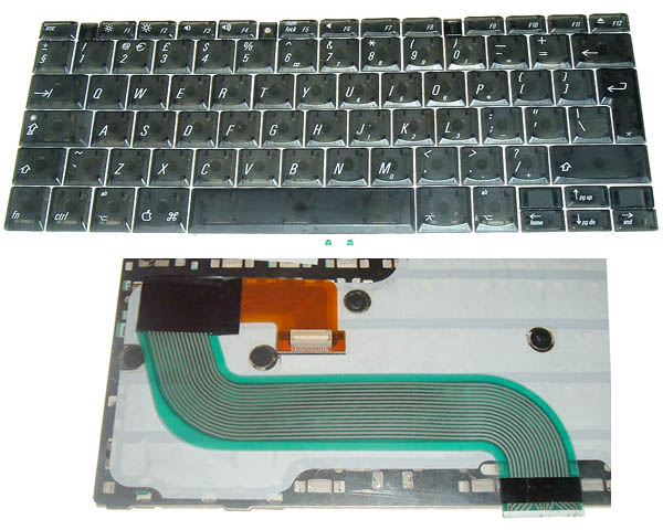 Titanium PowerBook G4 Keyboard, UK (400-500MHz)