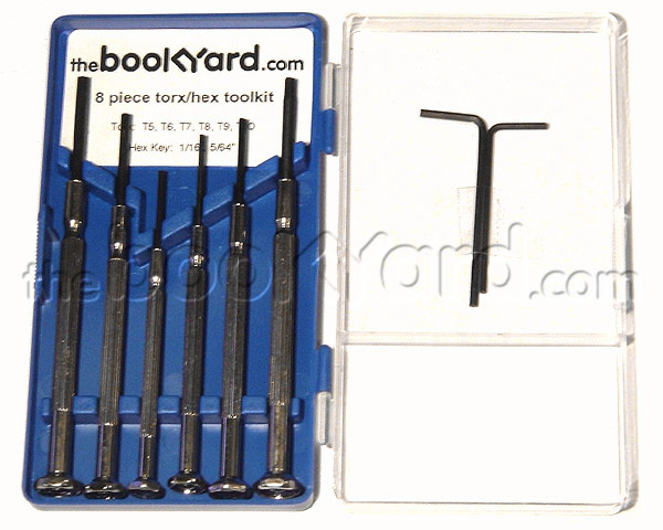 8-piece custom torx/hex toolkit for iBook, PowerBook & MacBook