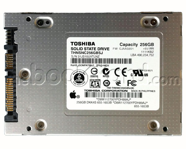 "Apple Original Toshiba SSD 256GB 2.5"" SATA"