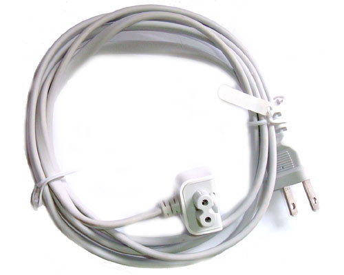 Mains lead for white plug laptop power supply - US