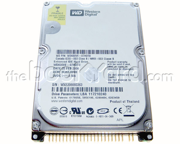 Western Digital 80GB 5,400rpm ATA notebook hard drive
